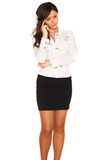 Business girl. On white background Royalty Free Stock Images