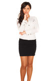 Business girl. On white background Stock Image