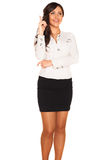 Business girl. On white background Royalty Free Stock Photos
