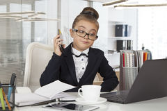 Business girl working Stock Images