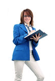 Business girl writing Royalty Free Stock Photos