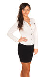 Business girl. Young manager  business girl on white background Royalty Free Stock Photo