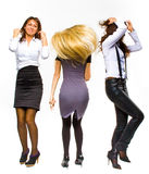 Business girls dance Royalty Free Stock Image