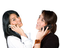 Business girls on the phone Stock Photography