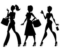 Business girls silhouette Royalty Free Stock Photography