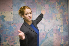 business giving presentation woman Στοκ Εικόνες