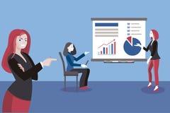business giving presentation woman Στοκ Εικόνα