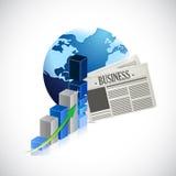 Business global news concept illustration Stock Photos