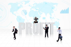Business global profit Stock Photos