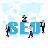 Business global SEO Stock Images
