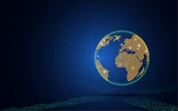 Business global technology cyptocurrency innovation concept. Eps 10 vector Stock Photography