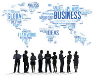 Business Global World Plans Organization Enterprise Concept.  Stock Images