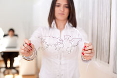Business globalization Stock Image
