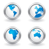 Business globe buttons Royalty Free Stock Photo