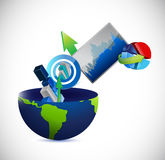 Business globe concept illustration design Stock Image