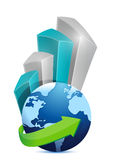 Business globe graph illustration design Royalty Free Stock Photography
