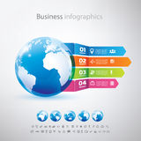 Business, globe infographics template Royalty Free Stock Photography