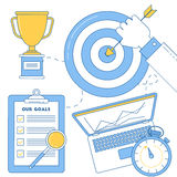 Business goal achievement illustration Royalty Free Stock Photography