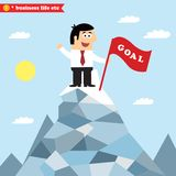 Business goal achievement Stock Images