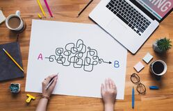 Free Business Goal And  Solving Problems Concepts With Young Female Thinking For Solution Royalty Free Stock Image - 198110516