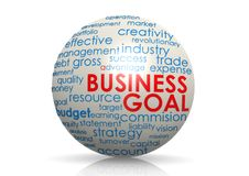 Business goal sphere Royalty Free Stock Image