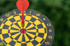 Business goal or target concept with a red dart in the center of Royalty Free Stock Images