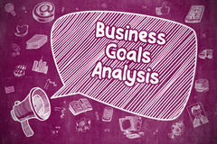Business Goals Analysis - Business Concept. Royalty Free Stock Photography