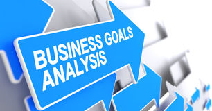 Business Goals Analysis - Inscription on Blue Arrow. 3D. Business Goals Analysis, Inscription on the Blue Cursor. Business Goals Analysis - Blue Pointer with a Stock Photo