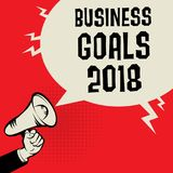Business Goals 2018 concept Royalty Free Stock Photography
