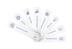 Business goals on swatch. With icons set and text Royalty Free Stock Images