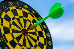 Business goals or target concept with selective focus on a dart Royalty Free Stock Photography