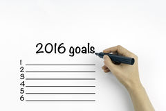 Business goals in 2016 Royalty Free Stock Photo
