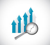 Business going up graph. illustration design Stock Photography