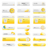 Business golden buttons set Royalty Free Stock Images