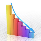 Business Gradient color Graph Bar Stock Photos