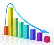 Business Gradient color Graph Bar Royalty Free Stock Photo