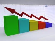 Business Graph. Illustration of Business chart stock illustration