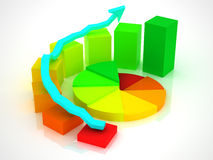 Business graph Royalty Free Stock Photo
