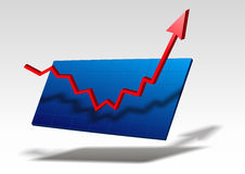 Business graph. Red business graph is going up to success Stock Images