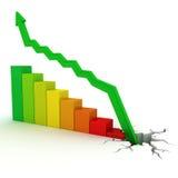 Business graph. Similar business graph concept images. Recessionю 3D render Stock Photos