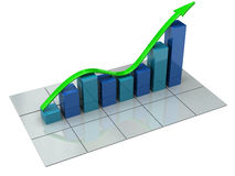 Business graph Royalty Free Stock Photography