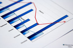 Business graph. In positive trend Stock Photos