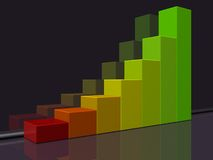 Business Graph. With colorful bars royalty free illustration