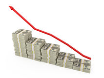 Business graph. Showing rise in money Royalty Free Stock Image