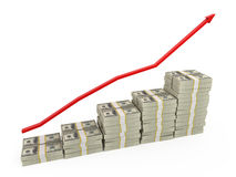 Business graph. Showing rise in money Stock Photography
