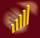 Business graph. Business bar graph, conceptual illustration royalty free illustration