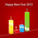 Business graph 2013. Happy New Year royalty free illustration