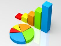 Business Graph Royalty Free Stock Photos