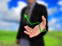 Business graph. Business hand and business graph Stock Photos