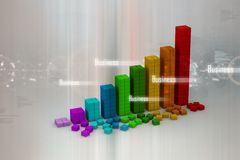 Business graph. Digital illustration of 3d Business graph Royalty Free Stock Photos